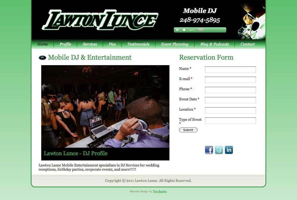 Lawton Lunce, DJ